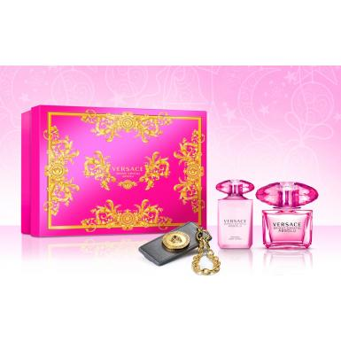 Versace Bright Crystal Absolu EdP90ml+BL100ml+přívěšek