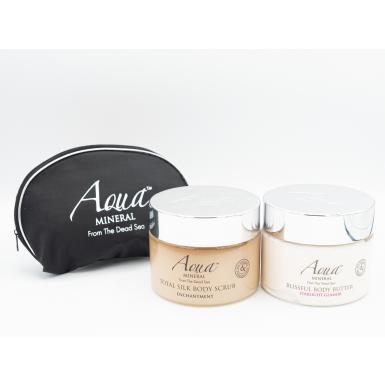 Aqua Mineral Blissful Body Butter Starlight Glamor - tělové máslo + tester silk body scrub + taštička