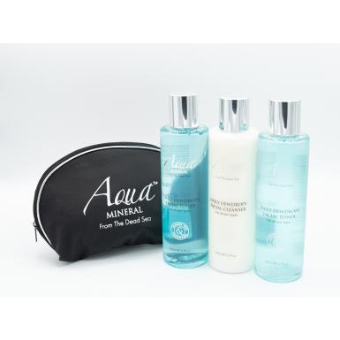Aqua Mineral Daily Dewdrops Facial Toner čistící tonikum + 2x tester + taštička