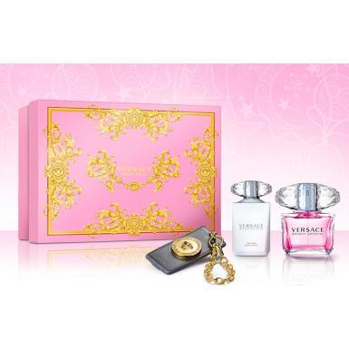 Versace Bright Crystal - dárková kazeta EdT90 + BL100 + přívěšek