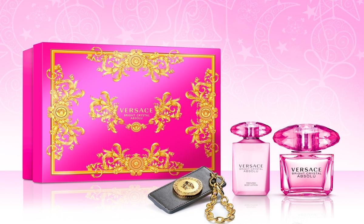 Versace Bright Crystal Absolu EdP90ml+BL100ml+přívěšek