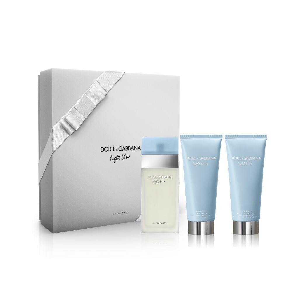 Dárková kazeta Dolce & Gabbana Light blue Dolce & Gabbana Light Blue Woman EDT 100 ml + tělové mléko 100 ml + sprchový gel 100 ml dárková sada