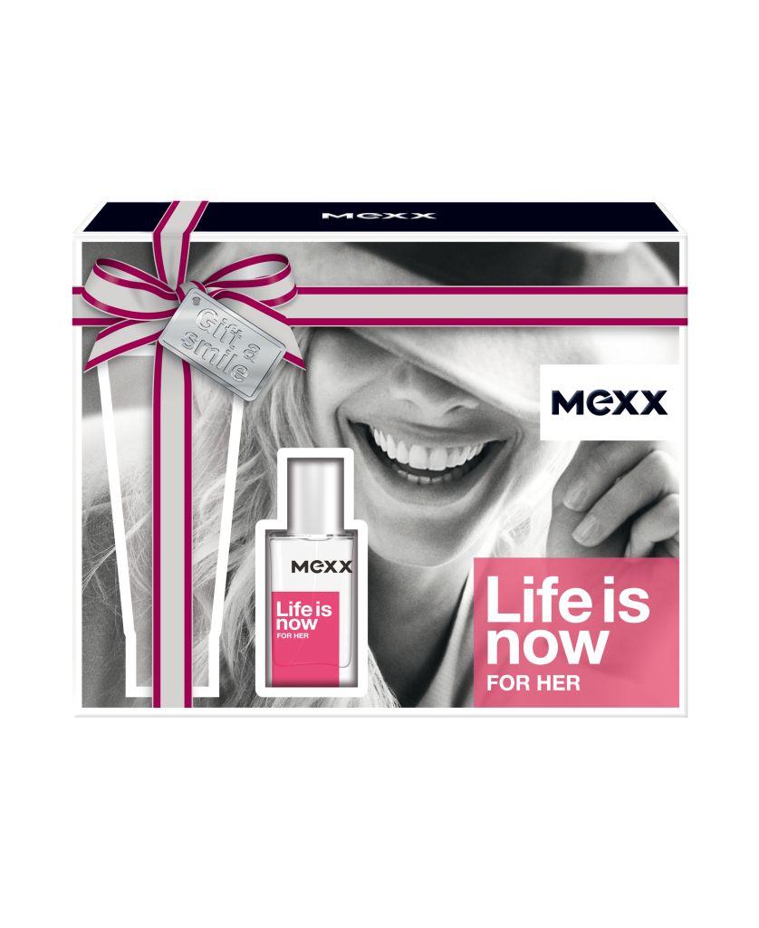 Mexx Life is Now For Her dárková sada Mexx Life is Now Woman EdT 15ml + BL 50ml